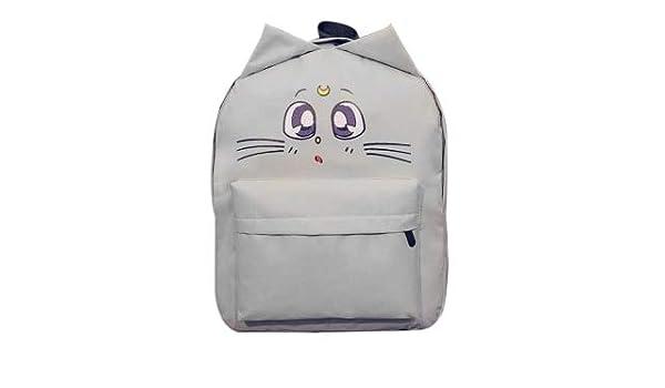 Amazon.com: Lovely Cat Printing Backpack Women Canvas School for Teenagers Ladies Casual Cute Rucksack Bookbags Mochila Feminina: Kitchen & Dining