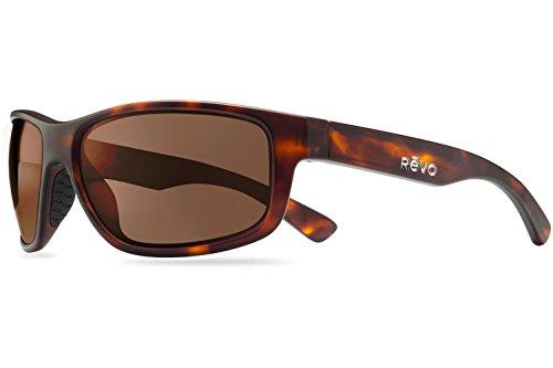 Revo Baseliner RE 1006 Polarized Wrap Sunglasses, Matte Dark Tortoise/Terra, 61 - Tortoise Matte Glasses