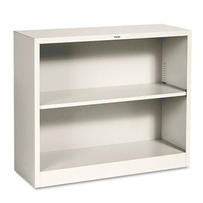 HON S30ABCL Metal Bookcase Two-Shelf 34-1/2w x 12-5/8d x 29h Putty, Putty