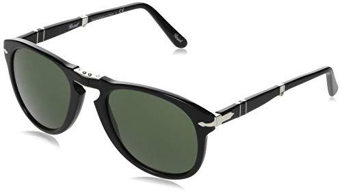 Persol PO0714 95/31 Gloss Black PO0714 Round Sunglasses Lens Category 3 Size 54