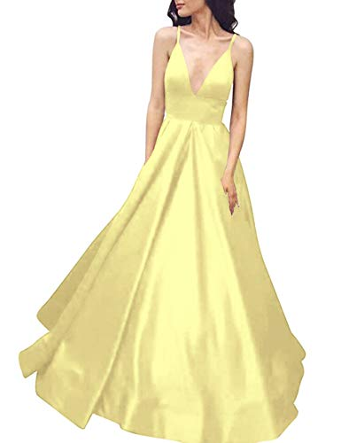 Straps Daffodil Bess Backless Spaghetti Bridal Prom Dress Formal Evening Women's Party qwav4Ht