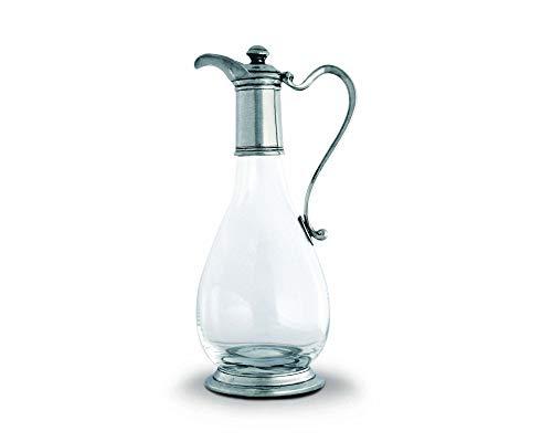 Vagabond House Classic Pewter & Glass Wine Decanter 12