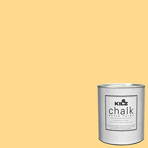 KILZ 00004604 Interior Chalk Style Ultra Flat Decorative Paint for Furniture, 1 Quart, Yellow Duckling