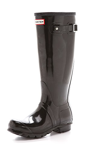 Original Women's Boot Hunter Rain Gloss Black Tall q80Z7v