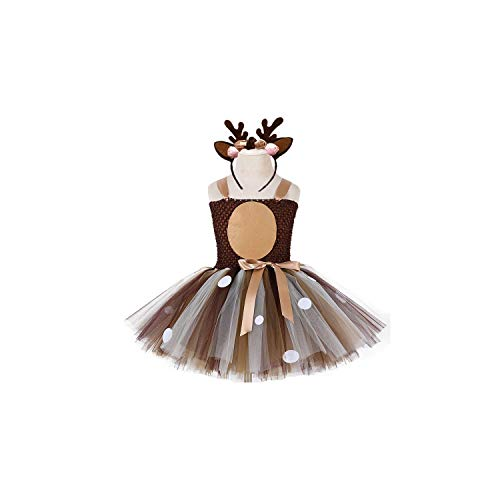 Girl Costume Christmas Deer Tutu 1St Birthday Party Happy Purim Halloween Winter Cosplay for Kids,13