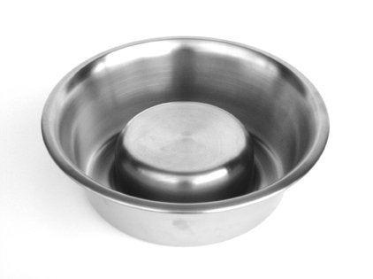 """""""Not So Fast"""" Slow Feeding Stainless Steel Bowl - 3qt"""
