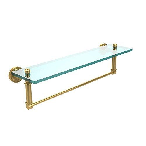 Allied Brass DT-1TB/22-PB Glass Shelf with Towel Bar 22-Inch x 5-Inch [並行輸入品] B078XLH6MZ
