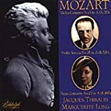 Thibaud and Long Play Mozart: Violin Concerto No. 5 in A, K.219 / Piano Concerto No. 23 in A, K.488 / Violin Sonata No. 35 in A, K.526