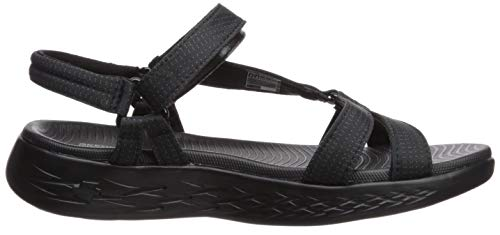 go Con brilliancy On Para Black 600 Pulsera the Bbk Mujer Skechers Sandalia EW7qHqx