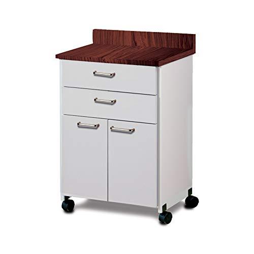 Mobile Treatment Cart - CLINTON TREATMENT CABINETS & CARTS Mobile 2 drawer/2 door cab Item# 8922