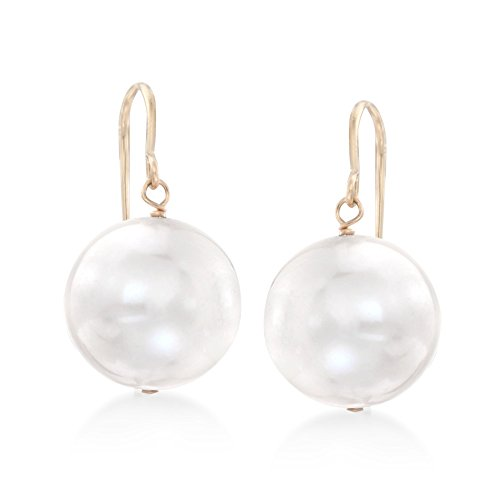 Gold Ring 14kt Pearl Ladies (Ross-Simons 11mm Cultured Pearl Drop Earrings in 14kt Yellow Gold)