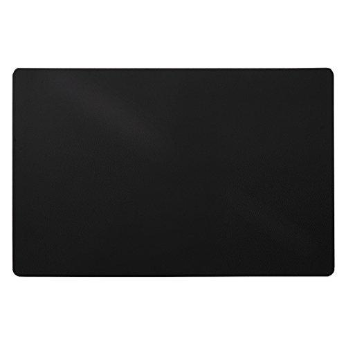 Trendige Schreibtischunterlage | Schwarz | abwischbar | PVC-frei | 65 x 50 cm | einzeln oder im Set (1 Stück)