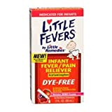 Little Remedies Infant Fever + Pain Reliever | Natural Berry Flavor | 2 oz | For Ages 2-3 years and up