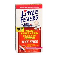 Little Remedies Infant Fever + Pain Reliever Natural Berry Flavor - 2 oz, Pack of 4
