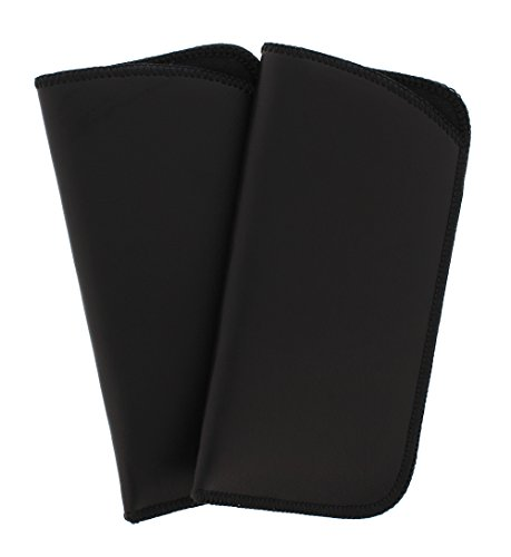 2 Pack Soft Faux Leather Slip In Eyeglass Case, Fits Medium to Large Frames, ()
