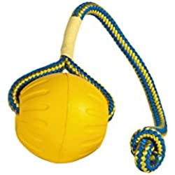 StarMark Fantastic Foam Ball on a Rope Dog Toy, Large