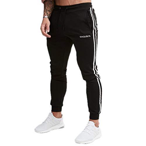 R-Hansets Mens Sweatpants Gyms Fitness Workout Cotton Trousers Pencil Joggers Sportswear 2 XL ()