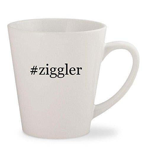 #ziggler - White Hashtag 12oz Ceramic Latte Mug Cup Song Coffee Grinder