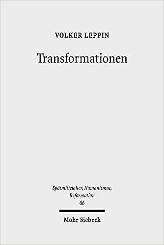 Transformationen: Studien den Wandlungsprozessen