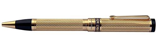 Xezo Tribune 18 Karat Gold Layered Diamond-Cut Ballpoint Pen. Weighty and Balanced, Limited Edition (Tribune 18K Gold B)
