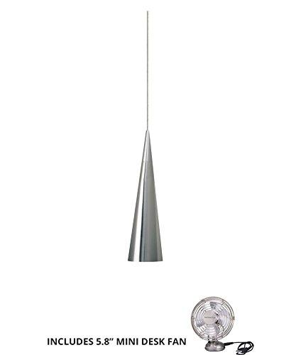 Tech Lighting 700FJSUMSS, Summit Mini Low Volt Cone Pendant, 1LT, 35watt Halogen, Nickel (Includes Mini Desk ()