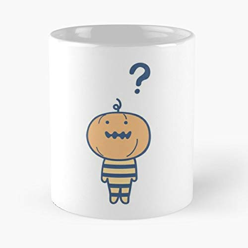 Pumpkin Man Halloween Doodle - 11 Oz Coffee Mugs Unique Ceramic Novelty Cup, The Best Gift For Holidays.