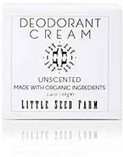 Little Seed Farm Natural Deodorant Cream, Aluminum-Free, Baking Soda-Free, 2.4 Ounce