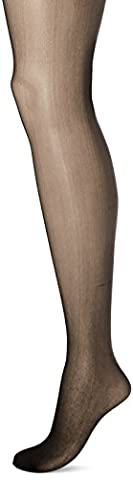 Leg Avenue Women's Plus Size Sheer Garter Belt Pantyhose,Black