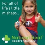 31HpX02J 3L - Kids Spray On Bandage, Natural Seal Liquid Bandage For Kids, Sting Free, 1oz Spray, Moisturizing, Soothes, Seals And Protects Skin, Woman Owned Small Business