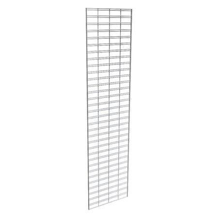 Wire Slatgrid Panel, Chrome, 2ft.x8ft, PK3