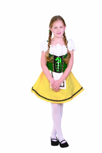 RG Costumes Bavarian Girl Costume, Green/Yellow/White, Large - German Costumes For Girls