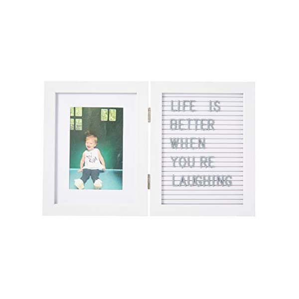 Kate & Milo Baby's Letterboard Picture Frame, White