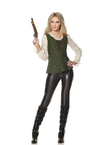 Mystery House Gretel Witch Hunter Costume, Green/Black, Medium (Adult Gretel Costume)