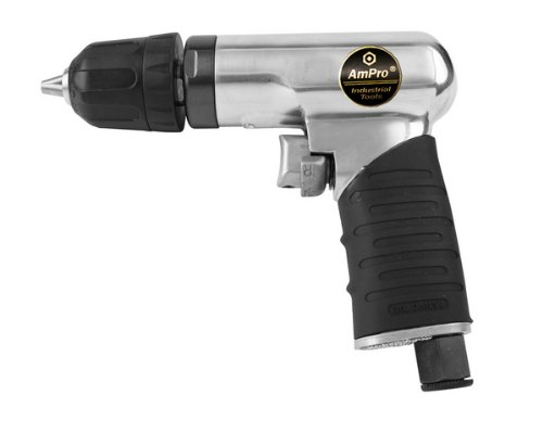 - Ampro A2425 1/4-Inch Mini Reversible Air Drill with Keyless Chuck