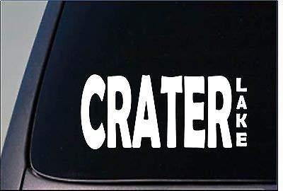 Crater Lake Sticker 8' Vinyl Fishing Reel Bass Boat Tan Water Ski -