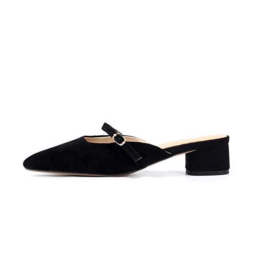AdeeSu Noir SDC06079 5 Noir Compensées Sandales Femme 36 rHrXxwB