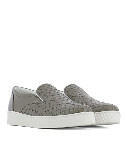 Design Gris De Skate Chaussures Zanotti 370760V00132905 Cuir Giuseppe Femme Cw5Iq6