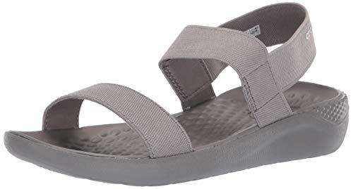 - Crocs Women's LiteRide Sandal Flat Smoke, 7 M US