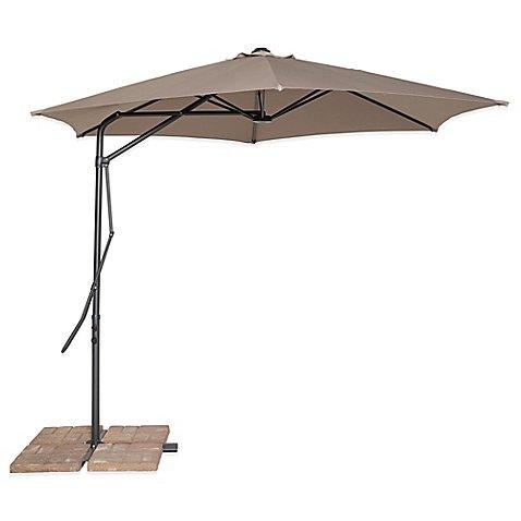 California Sun Shade 10-Foot Cantilever Round Umbrella in Tan California Cantilever Umbrella