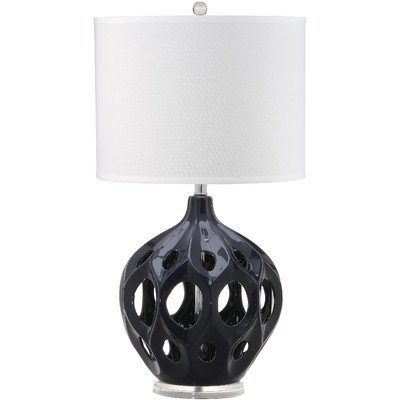 Safavieh Lighting Collection Regina Table Lamp, Navy Ceramic by Safavieh