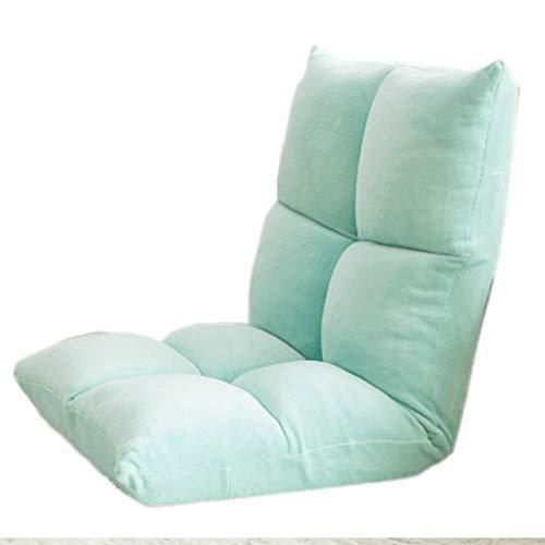 怠惰なソファかわいい畳み込みシングルベッドルームリビングルーム書斎ベイウィンドウベッドコンピュータチェア(カラー:ブルー) B07SXYBDD9 Blue