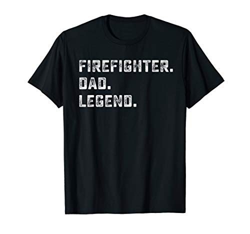 (Family Gifts For Papa Firefighter Dad Legend Shirt)