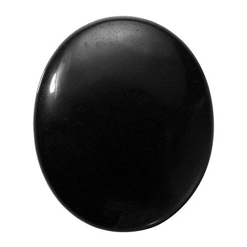 CrystalTears Obsidian Oval Worry Stone Healing Crystals Pocket Palm Stone w/Box