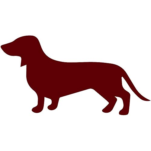 ANGDEST Dachshund (Burgundy) (Set of 2) Premium Waterproof Vinyl Decal Stickers for Laptop Phone Accessory Helmet Car Window Bumper Mug Tuber Cup Door Wall Decoration