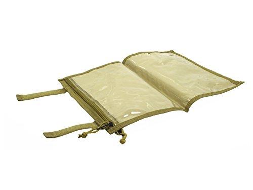 BE-X Faltbare Kartentasche mit Klarsichtfach und Klettverschluss - Coyote Tan / MJK