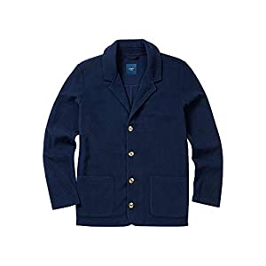 Cotton Traders Mens Regular Fit Longsleeve Button Up Fleece Blazer