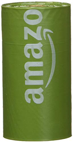 AmazonBasics Dog Waste Bags with Dispenser and Leash Clip - Pack of 270, 13 x 9 Inches, Green