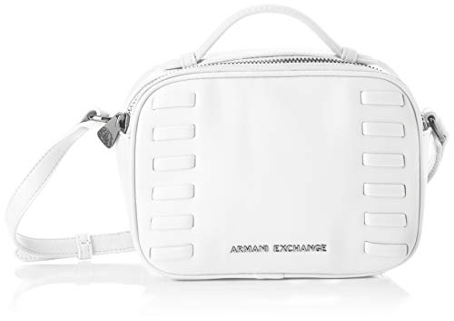 A|X Armani Exchange Women's Top Handle Small Crossbody Bag, bianco - white ()