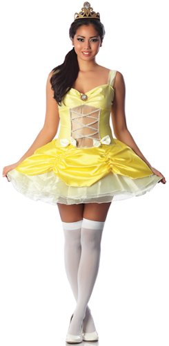 [Delicious Belle Of The Ball Sexy Costume, Yellow, Large] (Sexy Princess Belle Costumes)