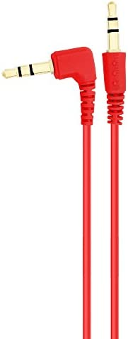 1.5m cable w// 1 Angled End Chromo Inc Red 1.5m AUX Flat cable